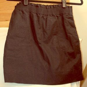 J Crew stretchy black pencil skirt